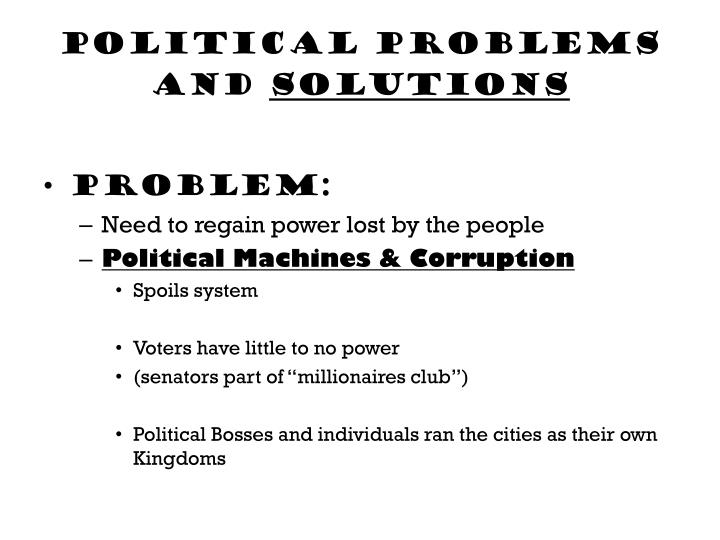 Political problems and