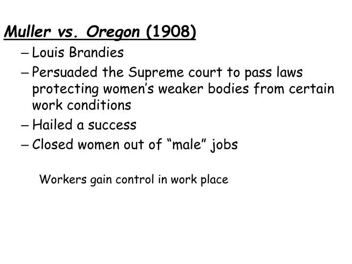 Muller vs. Oregon