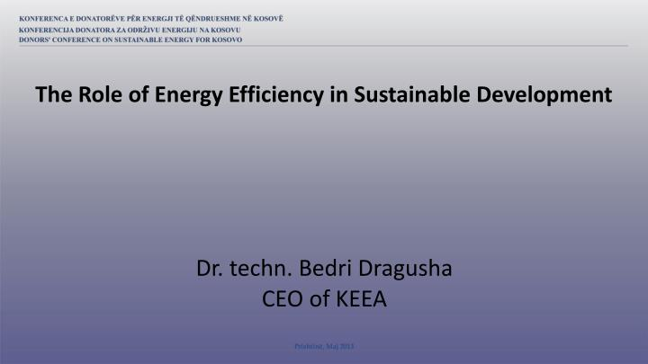 The Role of Energy Efficiency in Sustainable Development