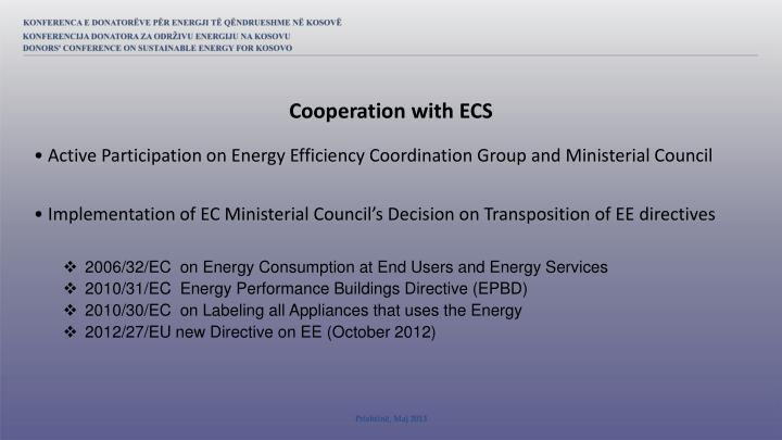 Cooperation with ECS
