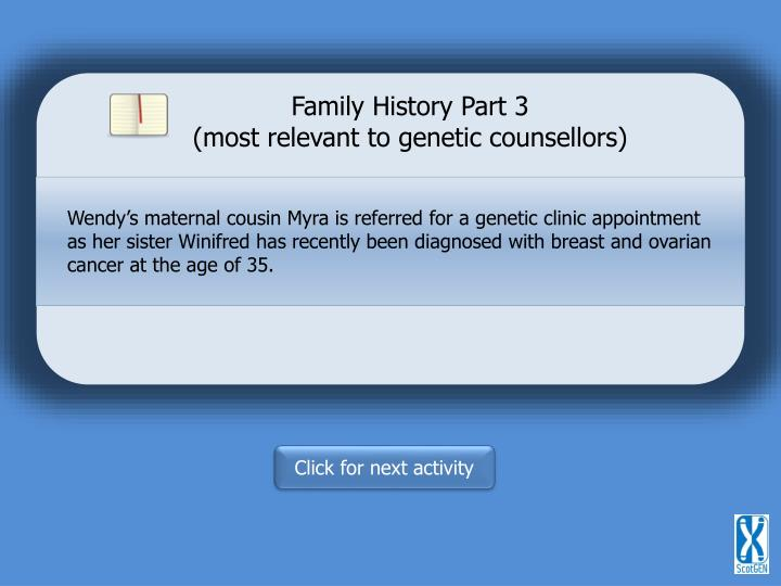 Family History Part 3