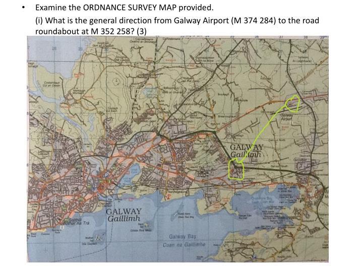 Examine the ORDNANCE SURVEY MAP provided.
