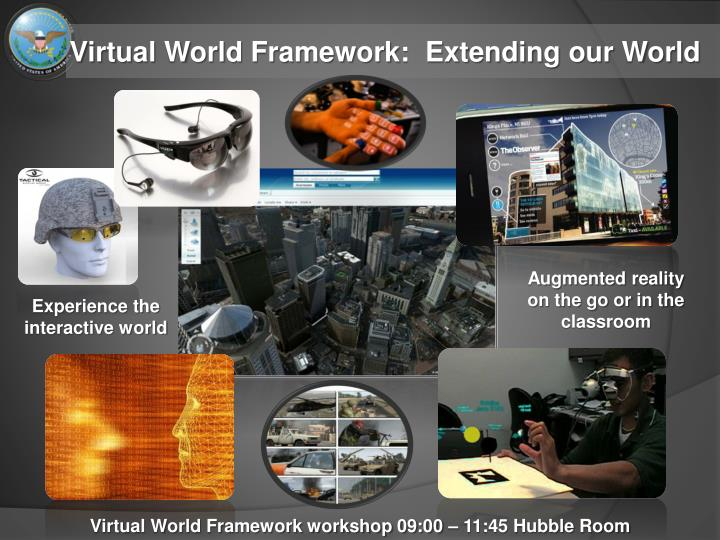 Virtual world framework extending our world