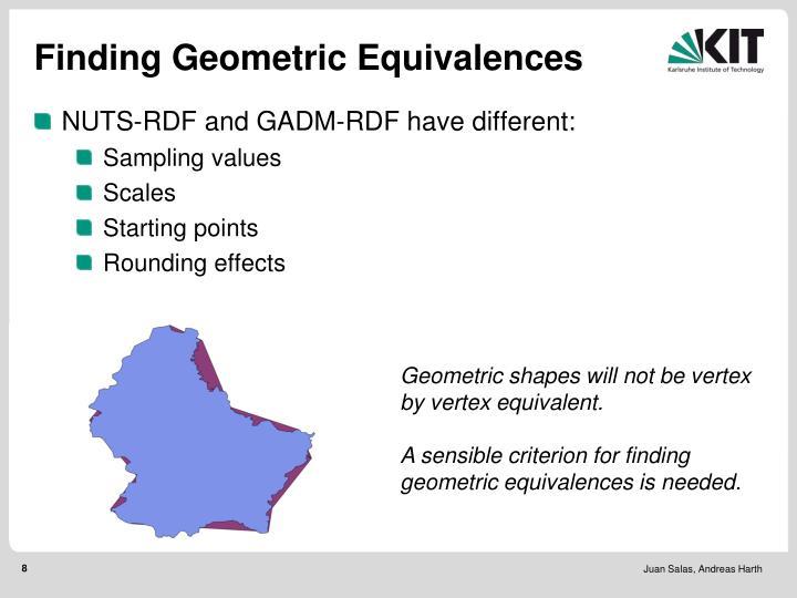 Finding Geometric Equivalences