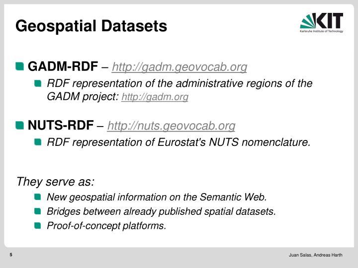 Geospatial Datasets