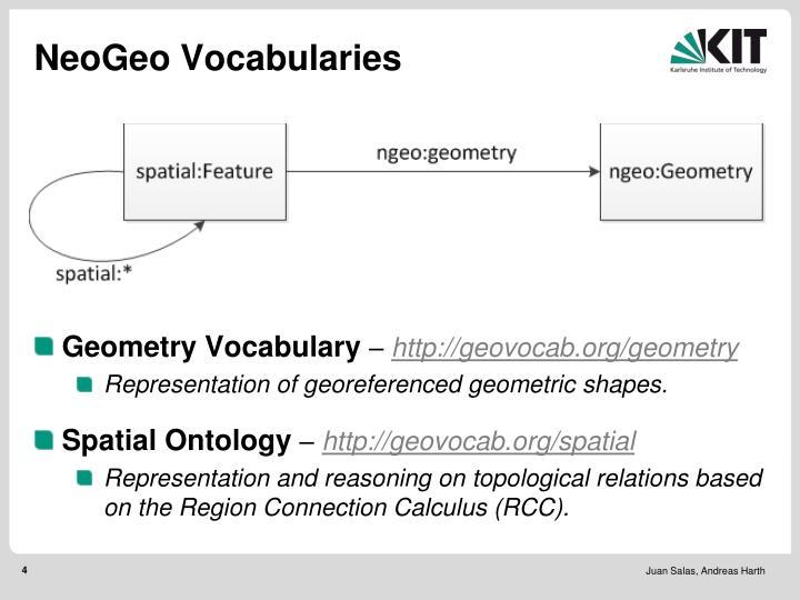 NeoGeo Vocabularies
