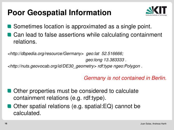 Poor Geospatial Information