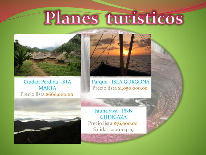 Planes  turísticos