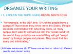 organize your writing1