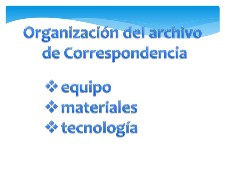 Organización del archivo
