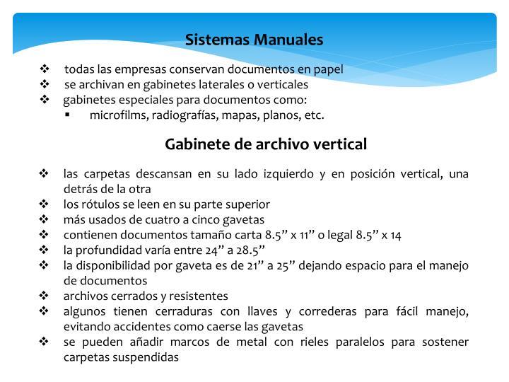 Sistemas Manuales
