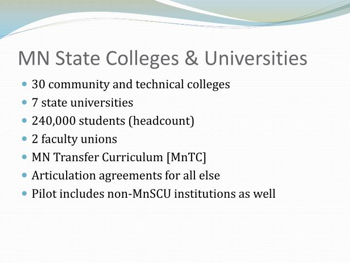 Mn state colleges universities