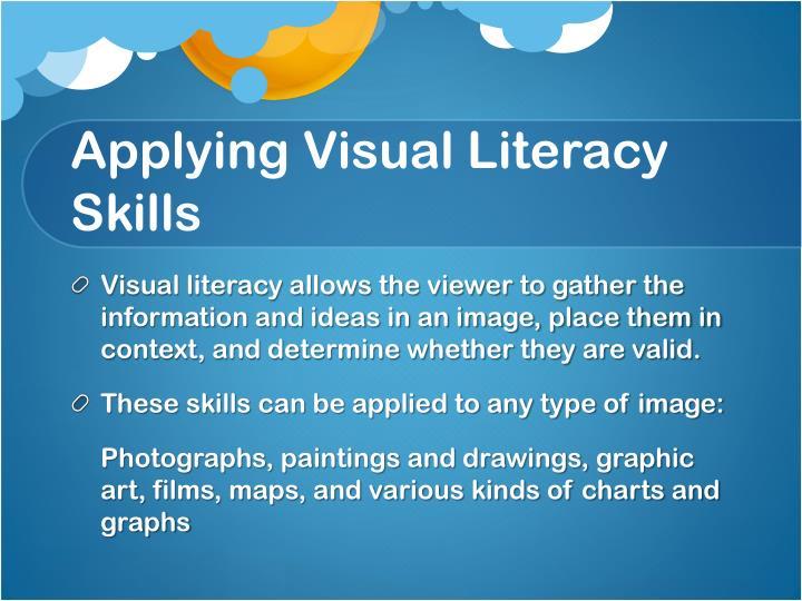 Applying Visual Literacy Skills