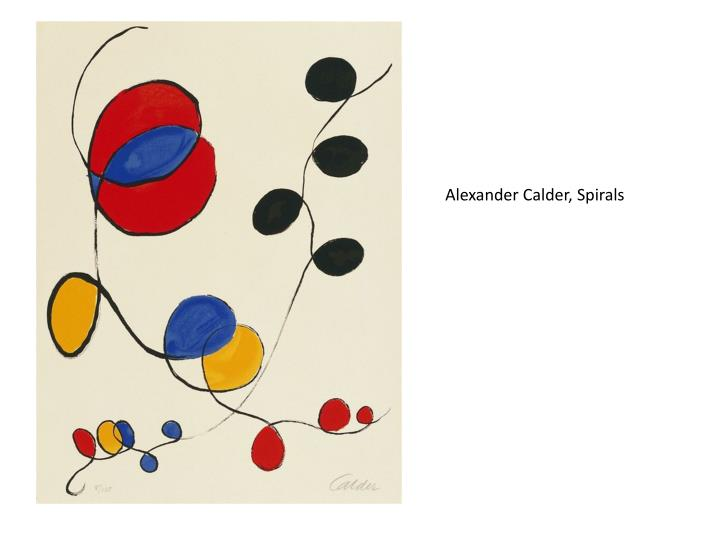 Alexander Calder, Spirals
