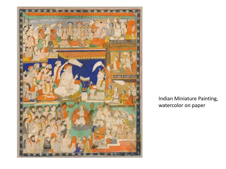 Indian Miniature Painting, watercolor on paper