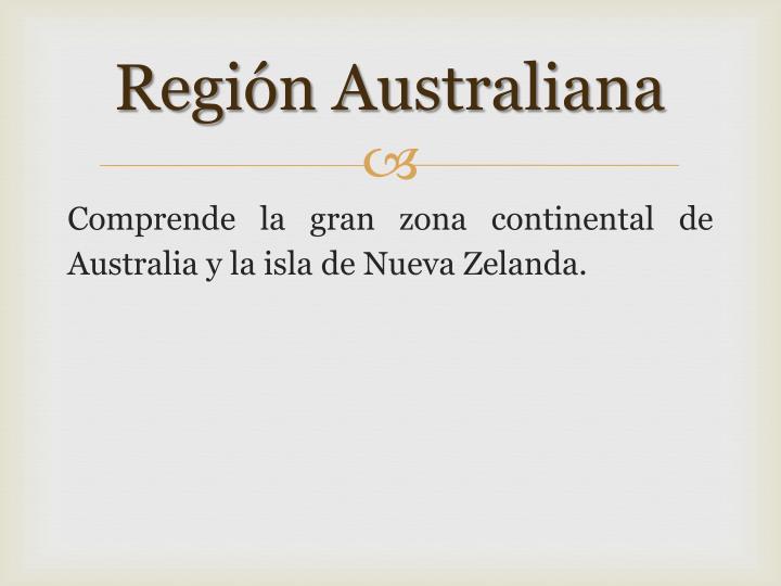 Región Australiana