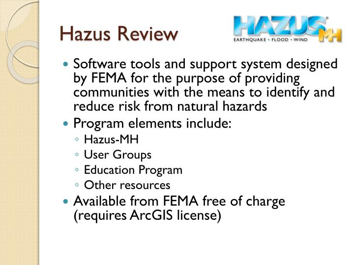 Hazus Review