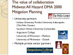 the value of collaboration midwest all hazard dma 2000 mitigation planning