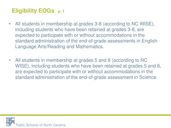 Eligibility EOGs