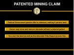 patented mining claim
