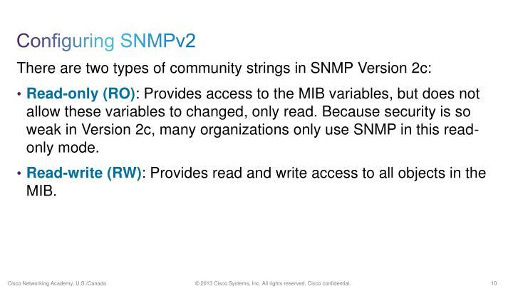 Configuring SNMPv2
