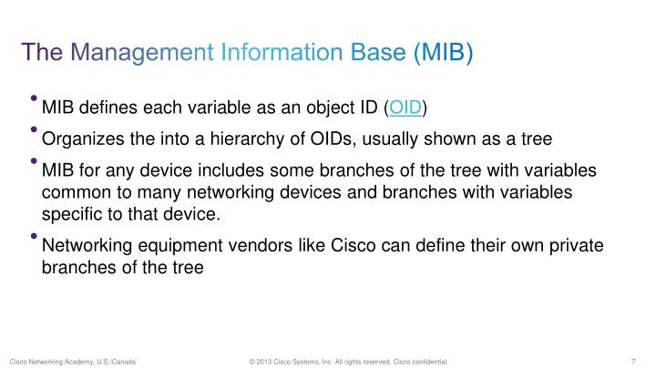 The Management Information Base (MIB)