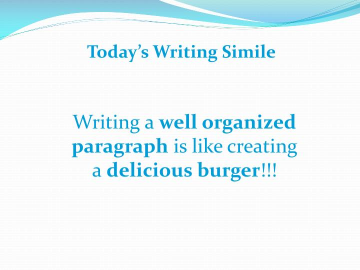 Today's Writing Simile