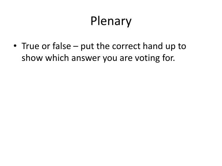 Plenary