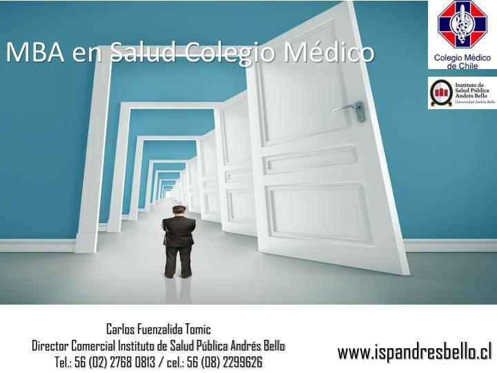 MBA en Salud Colegio Médico