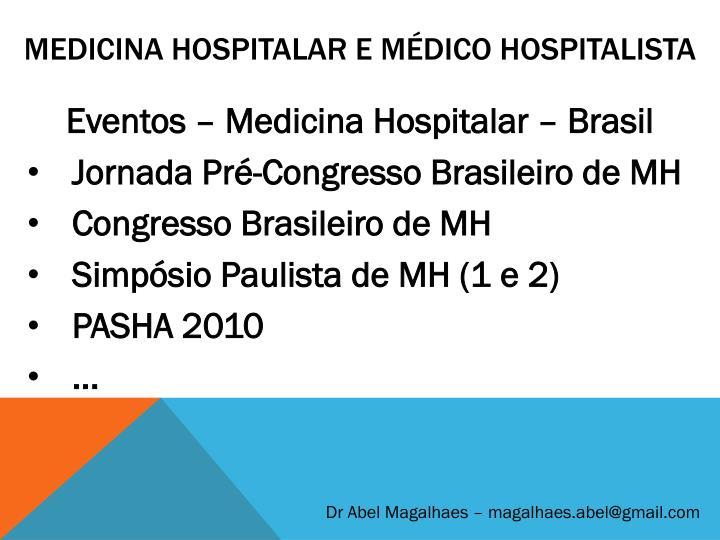 Medicina Hospitalar e Médico