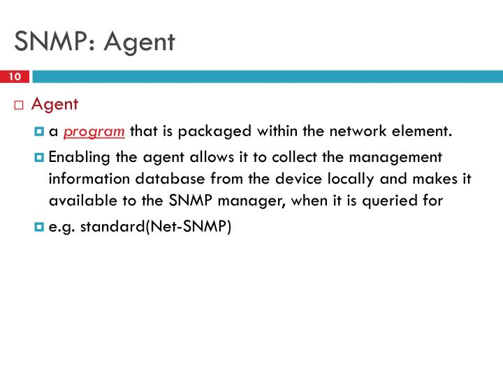 SNMP: Agent