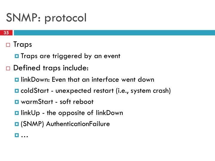 SNMP: protocol