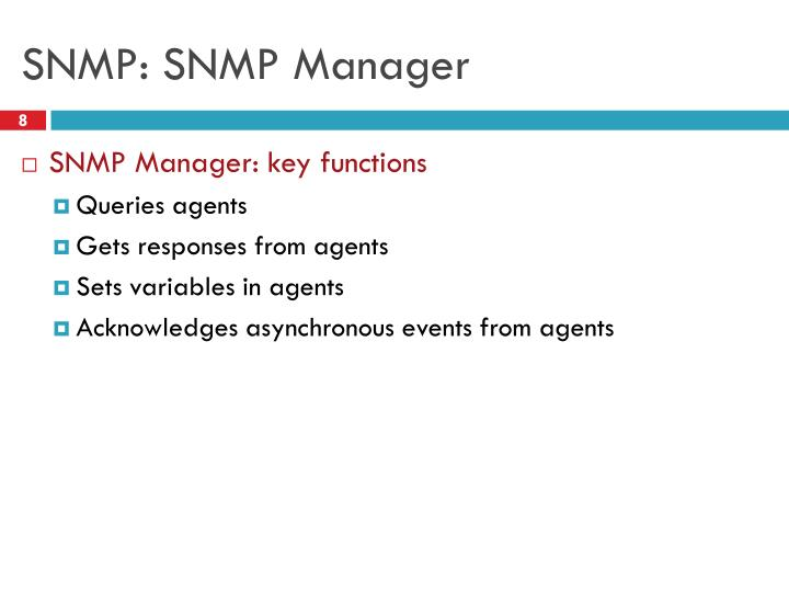 SNMP: SNMP Manager