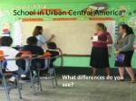 school in urban central america