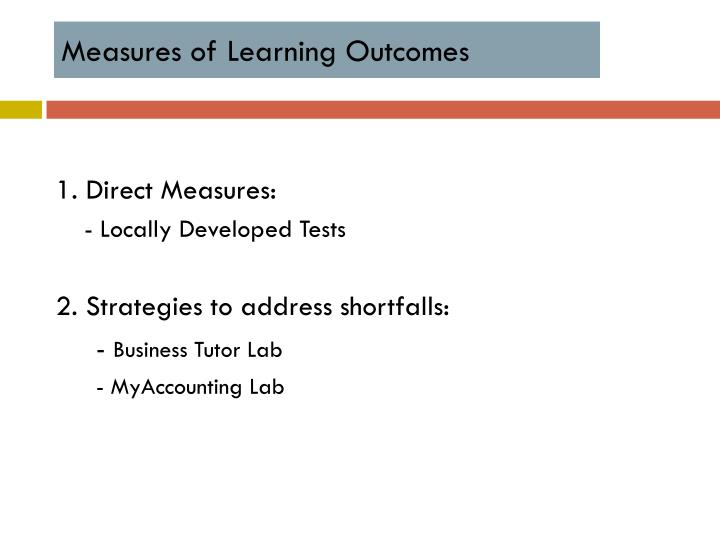 Measures of Learning Outcomes