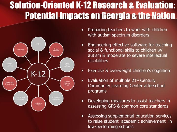 Solution-Oriented K-12 Research & Evaluation: