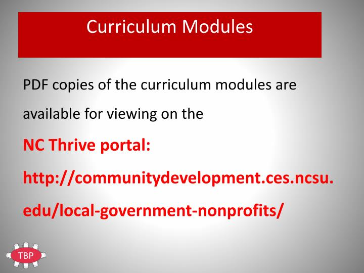 Curriculum Modules