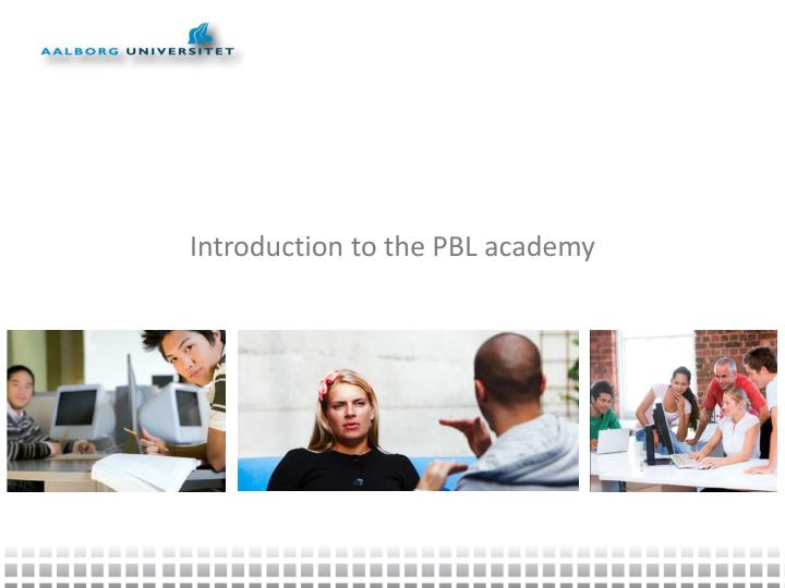 Introduction to the PBL academy