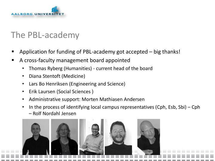 The PBL-academy