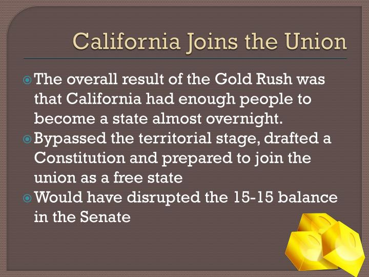 California Joins the Union