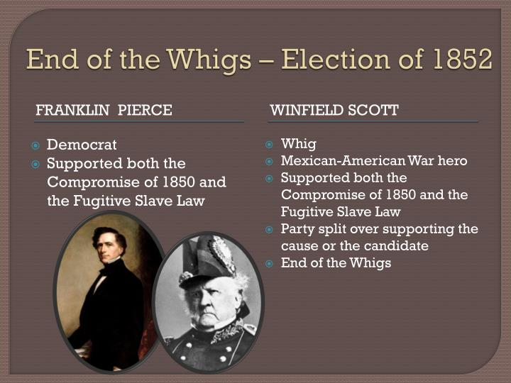 End of the Whigs – Election of 1852