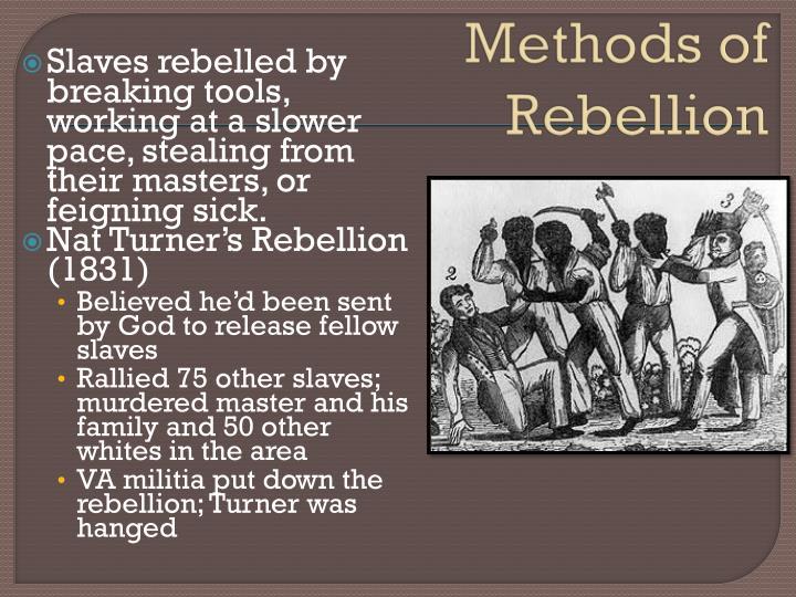 Methods of Rebellion
