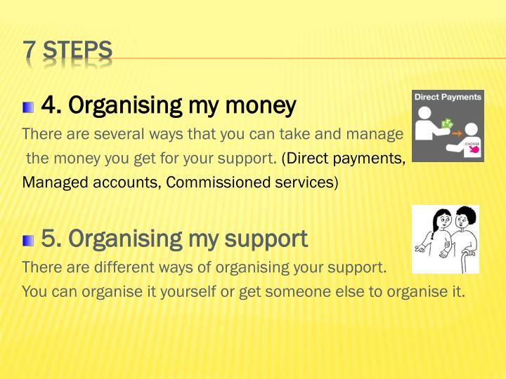 4. Organising my money