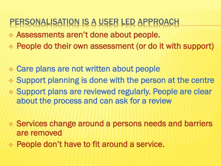 Assessments aren't done about people.
