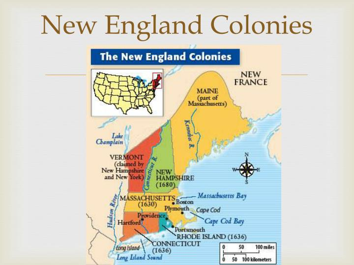 new england vs the colonies Slavery in new england, middle and southern colonies, was widespread slavery represented the economic, social and legal form of the enslavement of people, which bordered on complete injustice and extreme inequality.