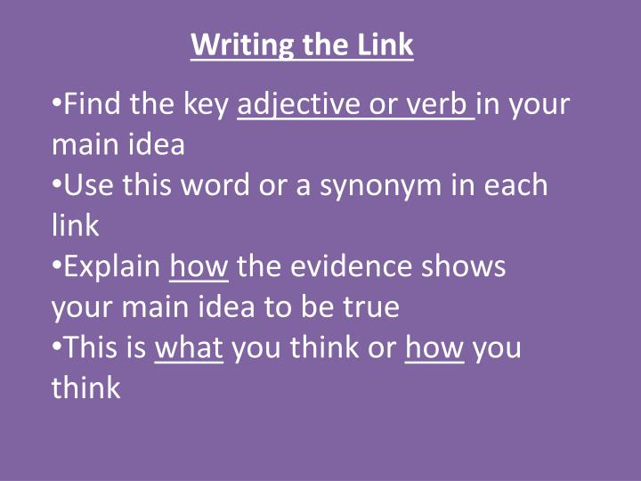 Writing the Link