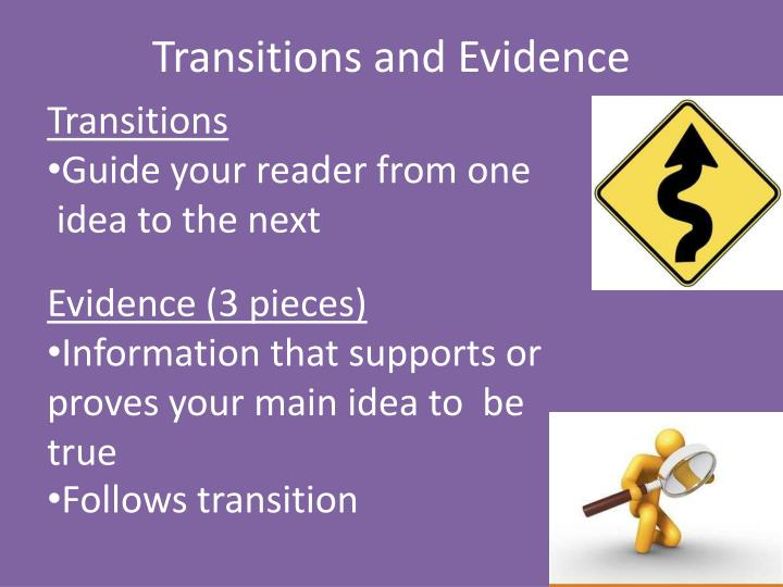Transitions and Evidence