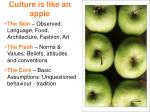 culture is like an apple