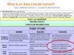 what is an asia literate school