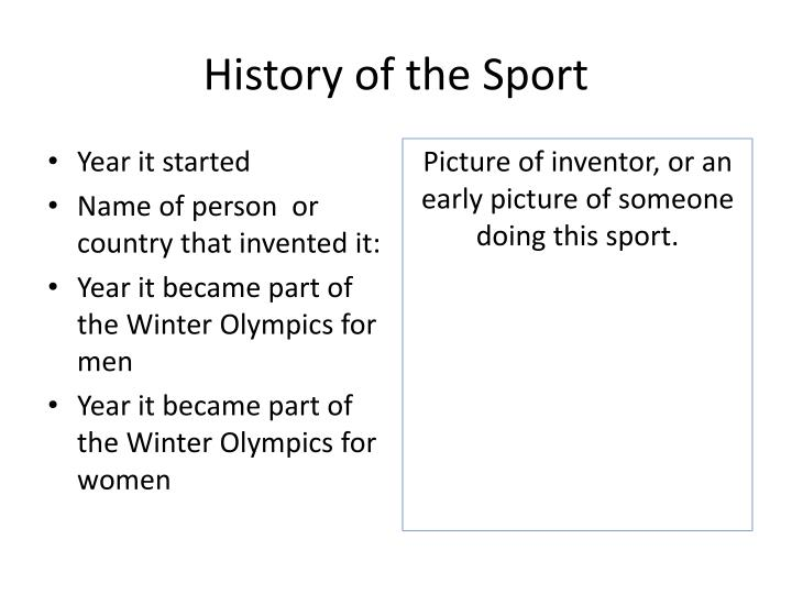 History of the Sport